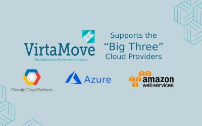"""VirtaMove Announces Native Support for the """"Big Three"""" Clouds Azure, AWS and GCP"""